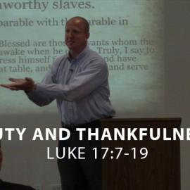 Duty and Thankfulness