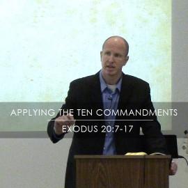 Applying the Ten Commandments