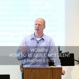 Women: How to be Quiet, not Silent