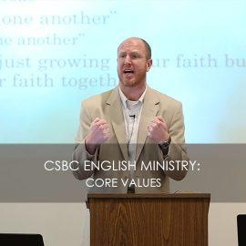 CSBC English Ministry: Core Values