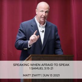 Speaking When Afraid To Speak
